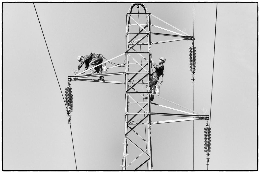 Suivi de chantier, réalisation de la ligne 400 000 Volts Lonny, Seuil, Vesle client : RTE Réseau de transport d'électricité