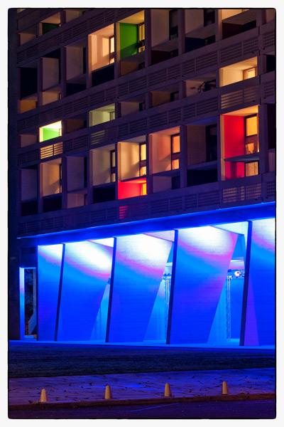 ville de Briey (2011), mise en lumière de la cité radieuse Le Corbusier à Briey par Yann Kersalé