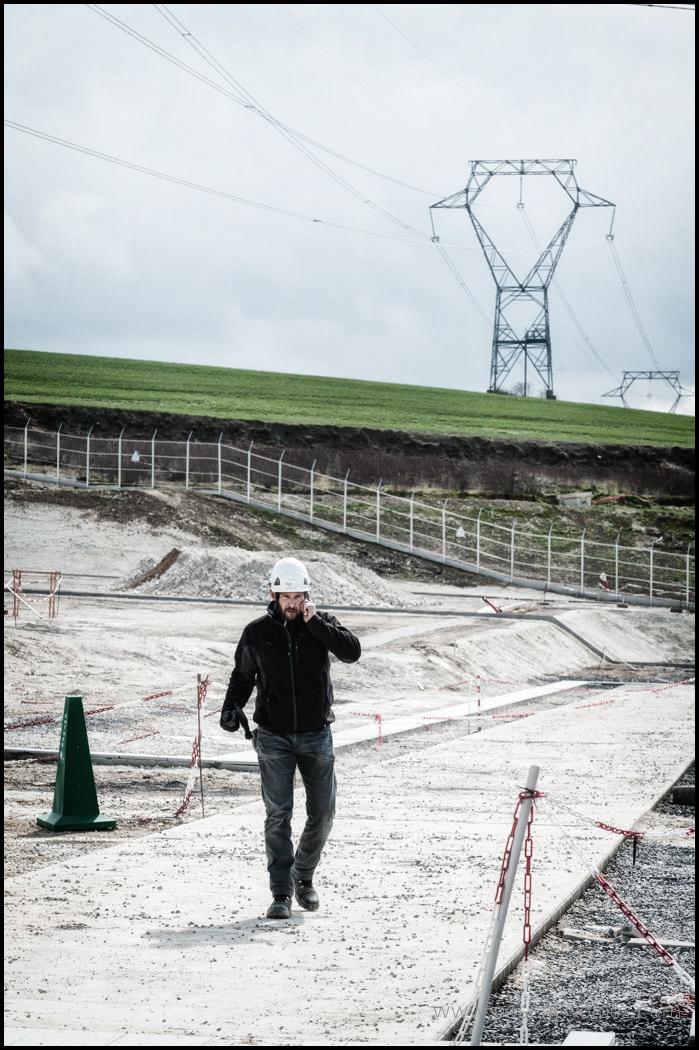 Suivi de chantier, réalisation de la ligne 400 000 Volts Lonny, Seuil