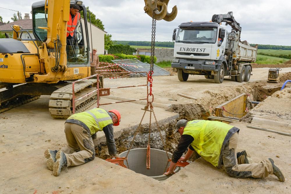 Suivi de chantier station épuration à Anoux et aux Baroches