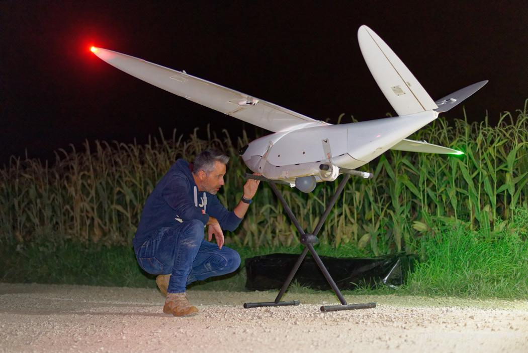 surveillance de chantier, de nuit par drone en Champagne-Ardenne Client : RTE