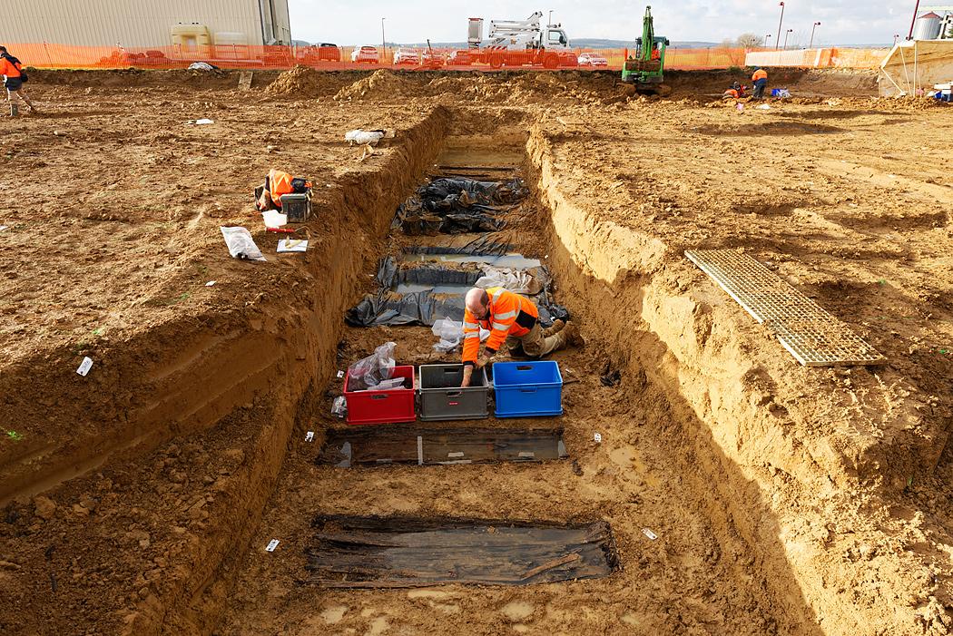 fouille archéologique d'un cimetière provisoire de la première guerre mondial à Spincourt (55) Client : INRAP