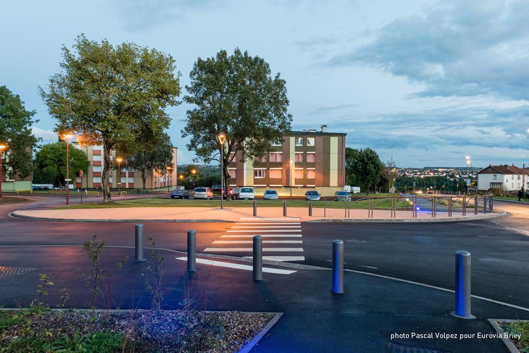aménagement urbain de nuit à Homécourt Client : Eurovia