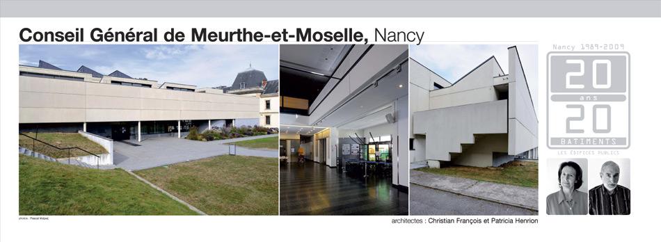 Conseil général de Meurthe-et-Moselle, Nancy